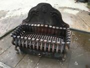 Antique Ornate Fire Bucket Grate.complete. Cast Iron Heavy Quality And Dust Tray.