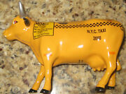 Cow Parade Nyc Taxi Cow 9160. Retired. Excellent Rare Year 2000 Vtg
