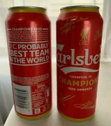 X2 Carlsberg Champions Liverpool Fc Premier Lague 2020 Collectible Empty Cans
