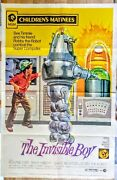 Robby The Robot The Invisible Boy Original 1973 Litho Movie Poster 40 X 60 N/m