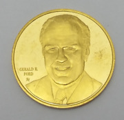 White House Historical Association Gerald R. Ford 24 Karat Solid Gold Coin Medal