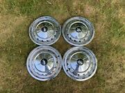 Vintage 1950s Chevrolet Hubcaps 1957 Chevy Hubcaps