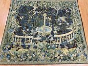 4'5 X 5'1 Hanging French Tapestry - Fountain - Hand Made - 100 Wool