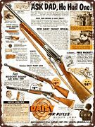 1960 Daisy Manufacturing Model 25 97 99 Toy Air Rifles Metal Sign 9x12 A413