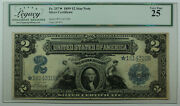 1899 2 Two Dollar Star Note Silver Certificate Fr. 257 Legacy Vf-25
