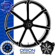 Rotation Orion Darkside Custom Motorcycle Wheel Front Package Harley Fatboy 18