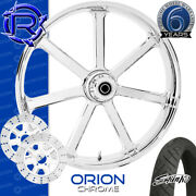Rotation Orion Chrome Custom Motorcycle Wheel Front Package Harley Touring 26