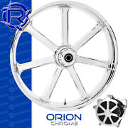 Rotation Orion Chrome Custom Motorcycle Wheel Front Harley Touring Baggers 21