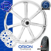 Rotation Orion Chrome Custom Motorcycle Wheel Front Package Harley Touring 21