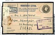 Gb Cover London Registered Unusual Usage To Israel 1954{samwells-covers} K273a