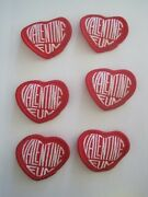 Girl Scout Valentine Fun Heart Shaped Patches Lot 6