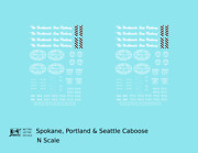 K4 N Decals Spokane Portland And Seattle Caboose White