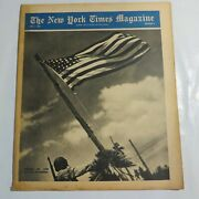 The New York Times Magazine July 1945 American Flag Symbol Of Victories N5