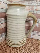 Japanese Pottery Tumbler Beer Mug Stien Extra X Large Brown Glazed Tan 7.5 Tall