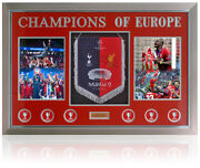 Liverpool Pennant Champions League Winners 2019 Hand Signed By Klopp And Mane Coa