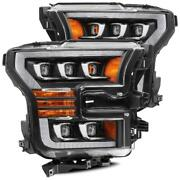 For 17-20 Ford F150 Raptor Nova Projector Headlights W/ Sequential Signal Chrome