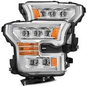 For 17-20 Ford F150 Raptor Nova Projector Headlights W/ Sequential Signal Black