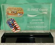 2005 Coca-cola Veterans Day Rare Challenge Coin Vip Box Set Numbered To 200