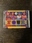 2009-10 Sp Game Used Kobe And Lebron And Iverson And Shaq Fabric Foursome 23/35= 1/1