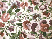 Longaberger Rare Retired Sweetpea Floral Fabric-half Yard-shop Store Selections