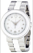 1495 Movado Cerena Steel And White Ceramic Ladies Watch Item No. 0606540
