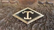 Diamond T Truck Radiator Medallion Cloisonne Gold Plated 1948 Model 704 And Others
