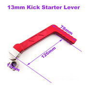 Red Kick Starter Lever For Chinese Made 50cc-160cc Pit Dirt Bike Lifan Yx Parts