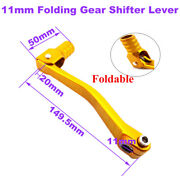 Gold 11mm Folding Gear Shifter Lever For Chinese 50cc -160cc Motorcycle Parts