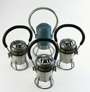 Vintage Conger Metal Railroad Lantern Battery Operated Lot Of 4