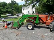John Deere Jd 148 Used Front Loader 72 Bucket With 1/2 Blade And Chain Hooks