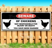 Beware Of Chickens Advertising Vinyl Banner Flag Sign Many Sizes Usa