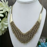 Mamas Estate Kenneth Cole Mesh Metal Necklace 17-20 Q6-12