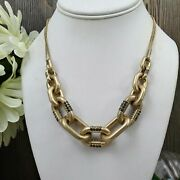 Mamas Estate Kenneth Cole Rhinestone Accented Gold Tone Necklace 16-19 Q5-1