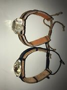 Lot Of 2 Real Insect Leather Bracelets - Stink Bug And Japanese Beetle