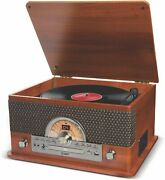 Ion Superior Lp 7-in-1 Usb Cassette Cd Turntable With Bluetooth And Am/fm Radio