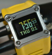 Rare Nike Timing Wc0021-750 Hammer Menand039s Yellow Digital Watch New Battery