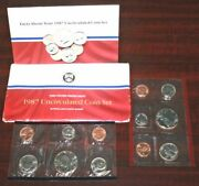1987 D And P 10 Coin Uncirculated Set Usa Us Mint [070lat]