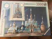 Disney Castle Collection Frozen Pin + Puzzle By Ravensburger In Hand
