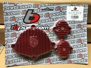 Kawasaki Klx110 Drz 110 Billet Engine Covers Red Cam And Tappet Tb Parts Tbw1442