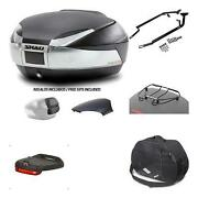 3953 - Back Trunk + Big Top Fitting + Accessories Sh48 Compatible With Suzuki Gs