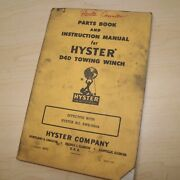 Cat D4d Caterpillar Tractor Hyster Winch Owner Operator Maintenance Parts Manual