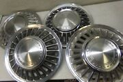 Vintage 1960and039s Ford Thunderbird T Bird Hubcaps Wheel Covers 4 Set