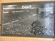 Super Rare Large Format Photograph Workers In Madison Square Gardens 1940