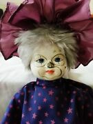 Antique Doll Little Wizard Man All Original Costume Handmade Collectible 19 Inch