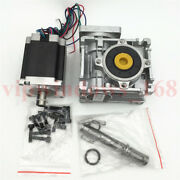 Nema23 Stepper Motor L76mm Worm Gearbox 7.51 101 151 201 301 Reducer Kit