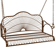 Chair Patio Porch Hanging Swing Outdoor Patio Furniture Bench Seat Iron Armrests