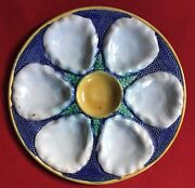 Antique Late 19th / Early 20th Century English Majolica Pottery Oyster Plate 1