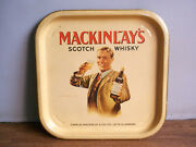 Old Vintage, Mackinlay's Scotch Whisky Advertising Tin Tray Made In England.