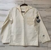 Vintage Wwii Us Navy 3cotton Uniform Store Keeper With Caps