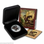2012 1 Red Welsh Dragon 1oz Silver Proof Coin Perth Mint